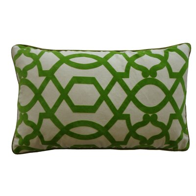 Tangled Cotton Lumbar Pillow Color: Green