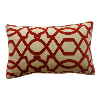 Tangled Cotton Lumbar Pillow Color: Red