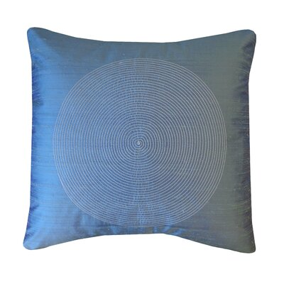 Spiral Silk Throw Pillow Color: Azure