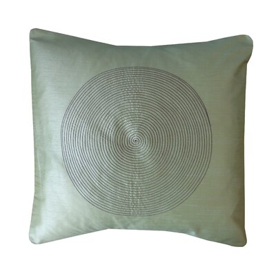 Spiral Silk Throw Pillow Color: Sage