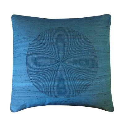 Spiral Silk Throw Pillow Color: Teal
