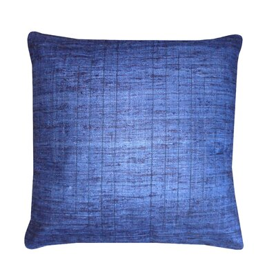 Streams Silk Throw Pillow Color: Indigo