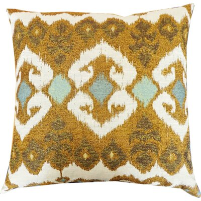 The Eye Cotton Throw Pillow Color: Aqua