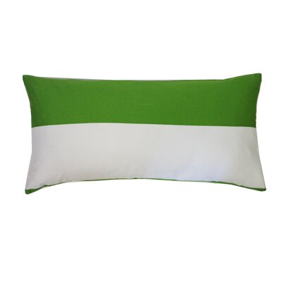 Bi Cotton Lumbar Pillow Color: Green