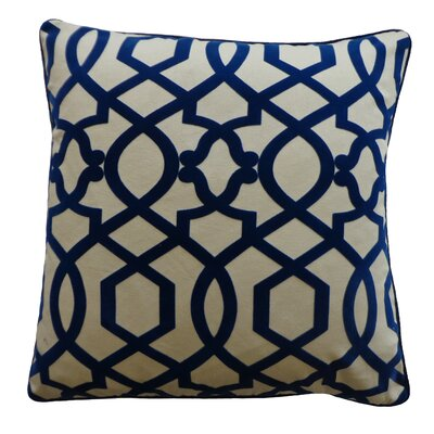 Tangled Cotton Throw Pillow Color: Blue