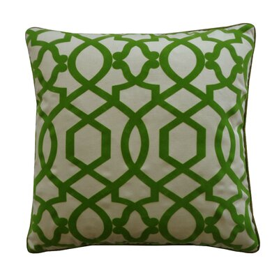 Tangled Cotton Throw Pillow Color: Green