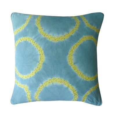 Tie Dye Ring Cotton Throw Pillow