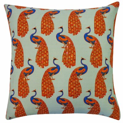 Pavo Cotton Throw Pillow