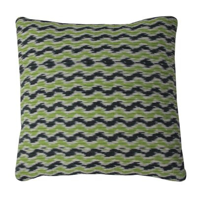 Quilted Ikat Cotton Throw Pillow