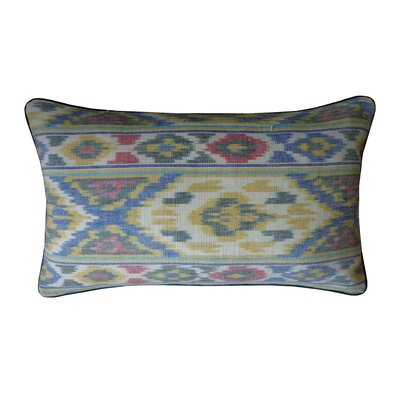 Real Ikat Cotton Lumbar Pillow