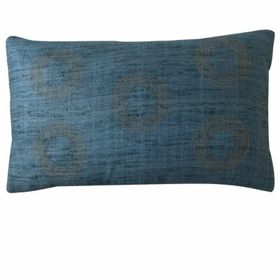 Matka Center Silk Lumbar Pillow Color: Aqua