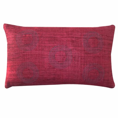 Matka Center Silk Lumbar Pillow Color: Red