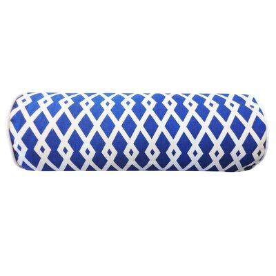 Moderna Cotton Bolster Pillow Color: Blue