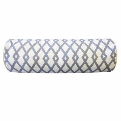 Moderna Cotton Bolster Pillow Color: Grey