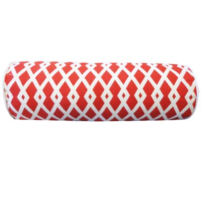 Moderna Cotton Bolster Pillow Color: Red