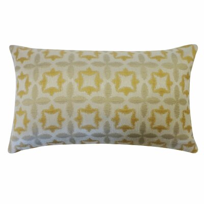 Motif Cotton Lumbar Pillow Color: Gold