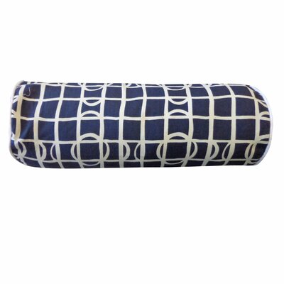 Planet Cotton Bolster Pillow Color: Navy