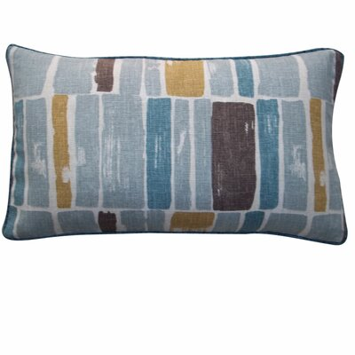 Martin Wall Cotton Lumbar Pillow Color: Aqua