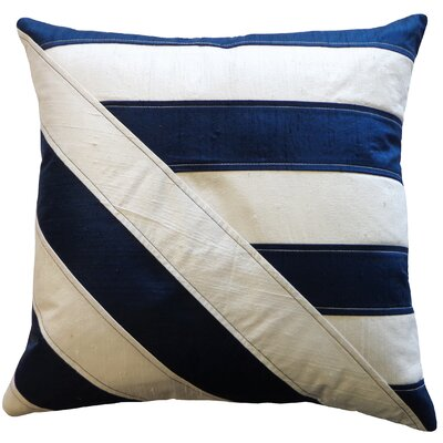 Lined Silk Throw Pillow Color: Blue White