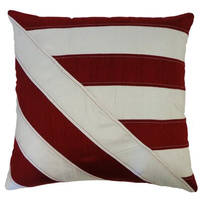 Lined Silk Throw Pillow Color: Red White