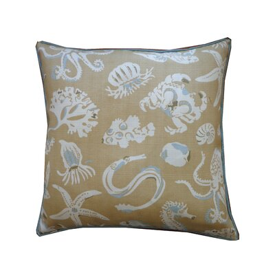 Marine Cotton Throw Pillow