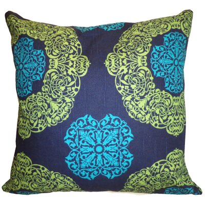 Medallion Cotton Throw Pillow Size: 26 H x 26 W, Color: Blue