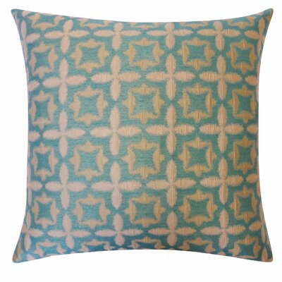 Motif Cotton Throw Pillow Color: Aqua