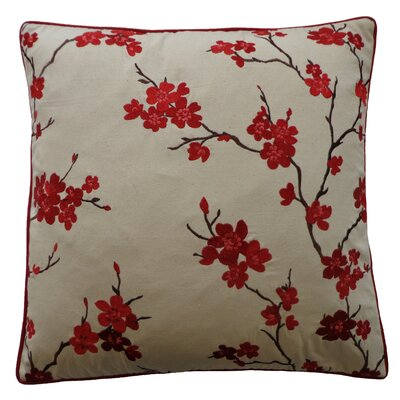 China Cotton Throw Pillow Color: Red