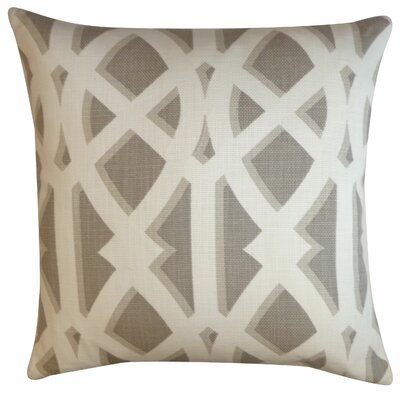 Crossroads Cotton Throw Pillow Color: Grey