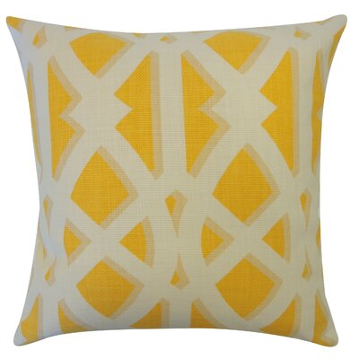 Crossroads Cotton Throw Pillow Color: Mustard