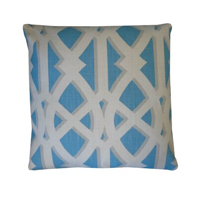 Crossroads Cotton Throw Pillow Color: Sky