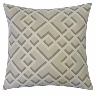 Flex Cotton Throw Pillow Color: Grey