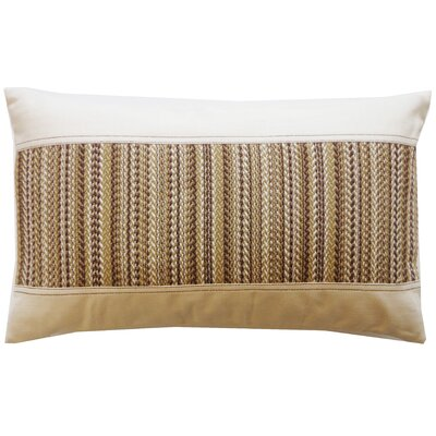 Hilo Stitch Cotton Lumbar Pillow