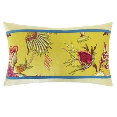 Jazmine Pieces Cotton Lumbar Pillow Color: Plum
