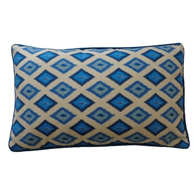 Kite Cotton Lumbar Pillow Color: Blue