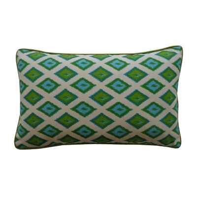 Kite Cotton Lumbar Pillow Color: Green