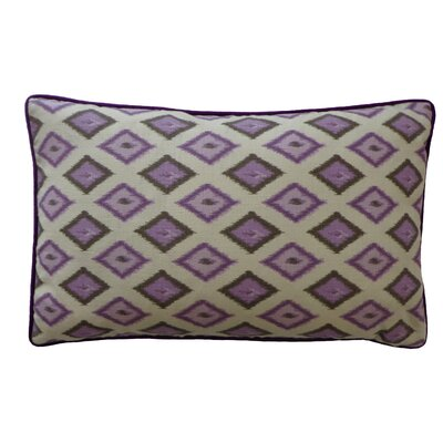 Kite Cotton Lumbar Pillow Color: Purple