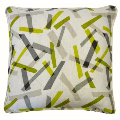 Pixel Cotton Throw Pillow Color: Lime
