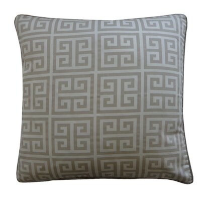 Riddle Cotton Throw Pillow Color: Grey
