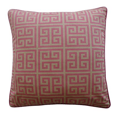 Riddle Cotton Throw Pillow Color: Pink