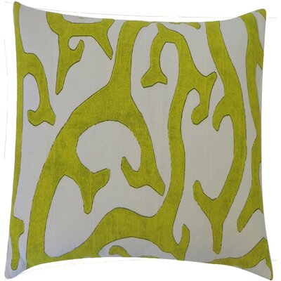 Reef Cotton Throw Pillow Color: Lime