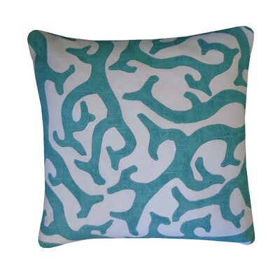 Reef Cotton Throw Pillow Color: Teal