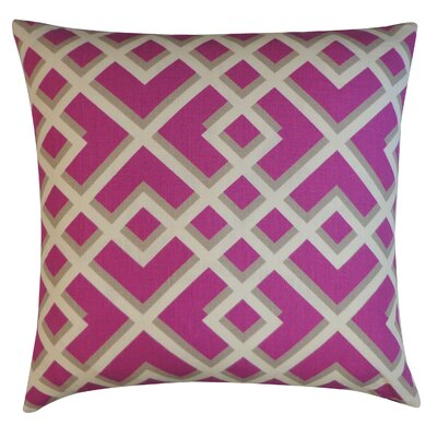 Flex Cotton Throw Pillow Color: Purple
