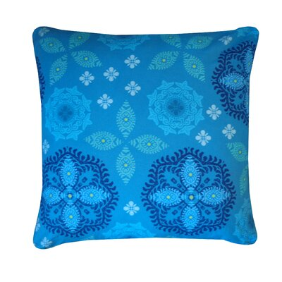 Flicker Cotton Throw Pillow Color: Esm