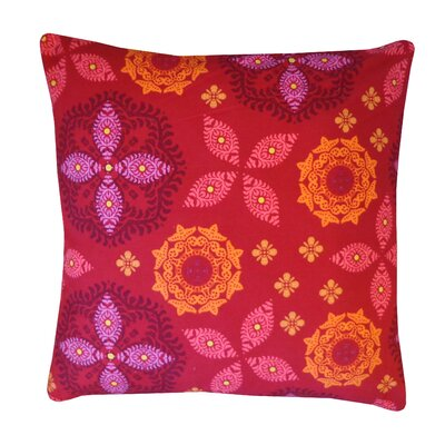 Flicker Cotton Throw Pillow Color: Fuchsia