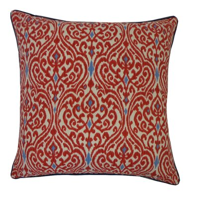 Geane Garnet Cotton Throw Pillow Color: Red