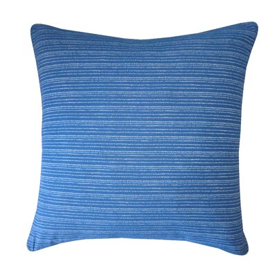 Kioto Line Cotton Throw Pillow Color: Blue