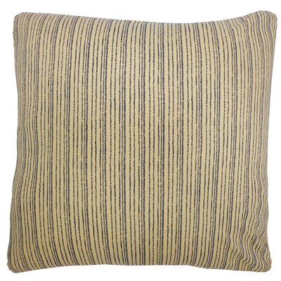 Kioto Line Cotton Throw Pillow Color: Cream