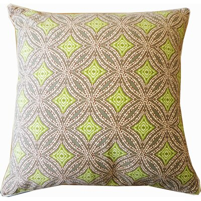 Turtle Pebble Cotton Throw Pillow Color: Green