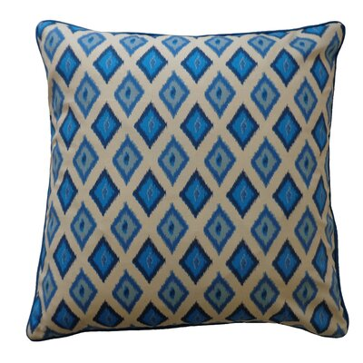 Kite Cotton Throw Pillow Color: Blue